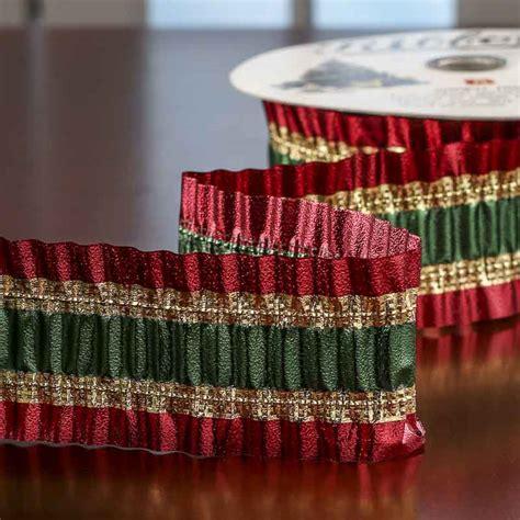 metallic christmas flora satin wired ribbon on sale