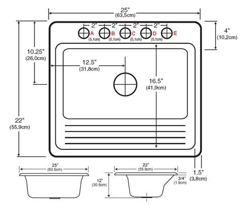 kitchen faucet size overall dimensions 25 quot x 22 quot x 12 quot