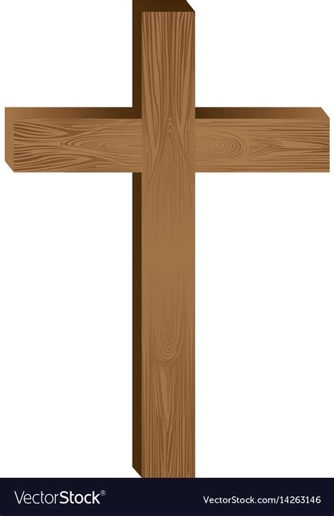 White Cross Background White Background With Wooden Cross Royalty Free Vector Image