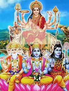 Adi Parasakhti(Durga/Adi Shakthi )creating Brahma,Vishnu ...