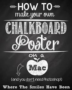 7 best images of create a printable poster free With chalkboard printable generator