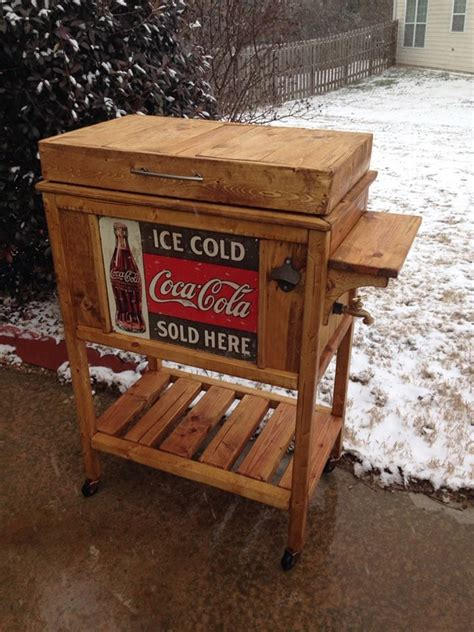 ana white diy wooden cooler stand vintage  diy