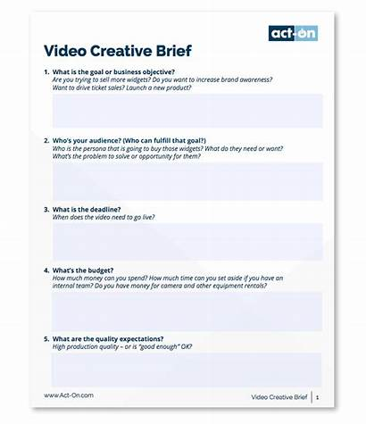 Brief Creative Templates Write Template Brand Client