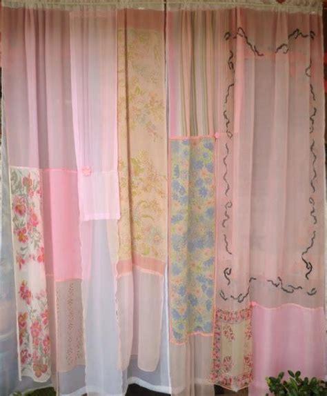 sheer scarf curtain diy repurposed