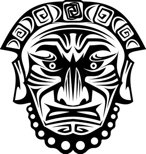ancient tribal religious mask isolated stock vector