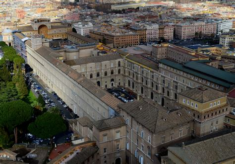 Cortile Belvedere Bramante by Aerial View The Cortile Belvedere Belvedere Courtyard