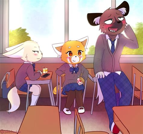 aggressiveretsuko anthro canine clothed clothing digitalmediaartwork female