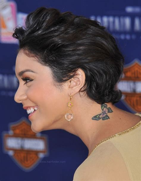 Vanessa Hudgens with short hair   Curly pixie cut