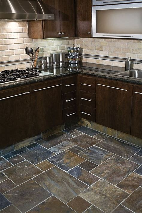 tile flooring kitchen cabinets gobi slate same as our backsplash kitchen pinterest