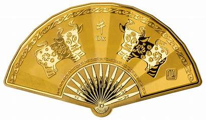 Lunar Shaped Fan Medal Chinese Downies 3rd