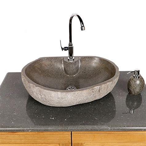 naturstein waschbecken steinwaschbecken wohnfreuden naturstein waschbecken 60 cm oval mit gerader r 252 ckwand steinwaschbecken
