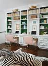 painted home office built ins Ikea Billy Bookcase - Contemporary - den/library/office - Behr Black Sable - Life in Grace
