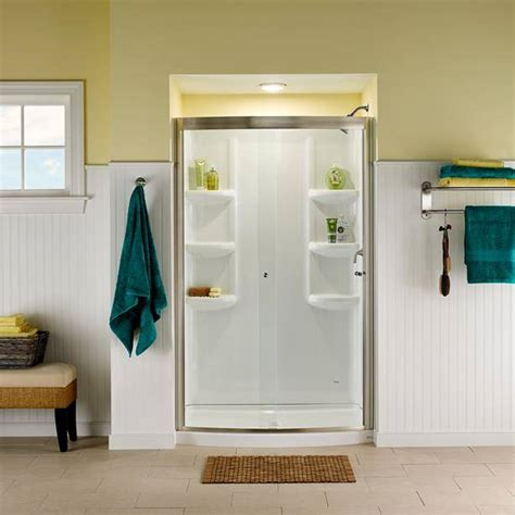 ovation curved    piece shower wall set american