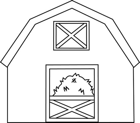 barn template black and white barn with hay clip black and white barn with hay image