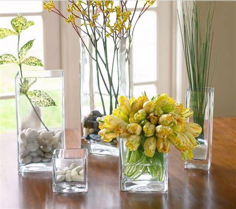 floreros  centros de mesa jardin florero de vidrio
