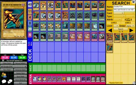 Exodia Deck List Otk by Chain Material Fusion Gate Exodia Otk D Yu Gi Oh Tcg