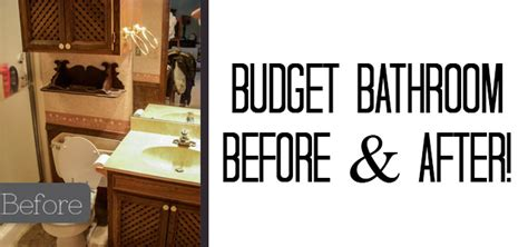 Bathroom Makeovers On A Budget Before And After by Budget Bathroom Makeover Before After Our House