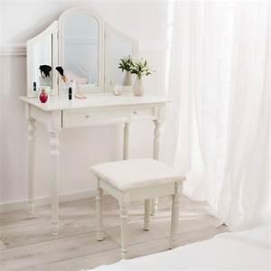 3 Teiliger Spiegel : schminktisch kosmetiktisch frisierkommode frisiertisch mit spiegel hocker ebay ~ Bigdaddyawards.com Haus und Dekorationen