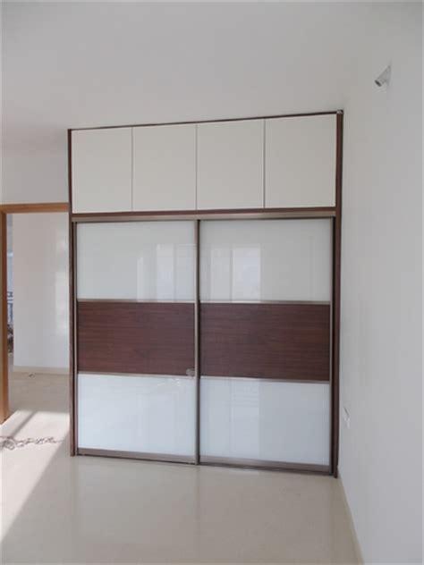 modern bedroom wardrobe loft glass sliding door service
