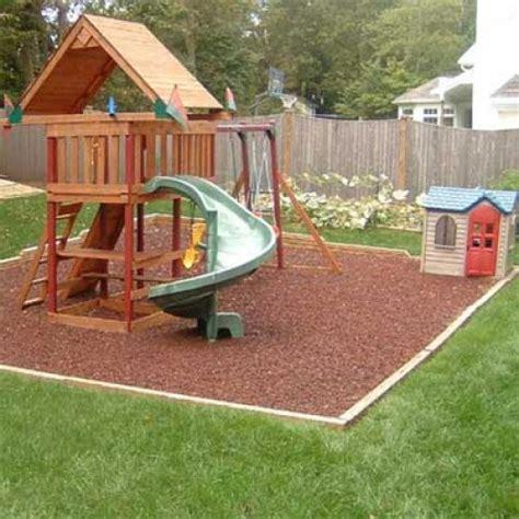 Kidwise Rubber Mulch, Residential Swing Sets Backyard