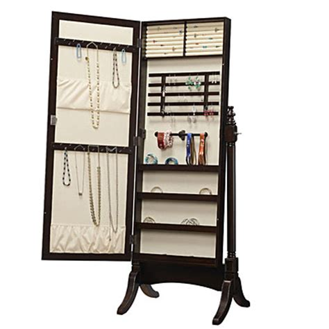 White Mirrored Jewelry Cabinet Armoire Canada by Stylish Collection Jewelry Armoire Cheval Mirror Home