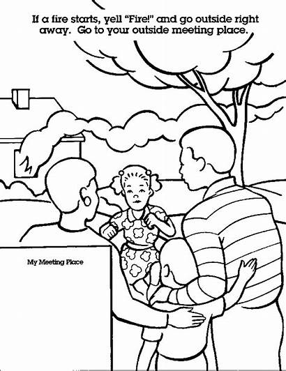 Coloring Pages Safety Fire Safe Emergency Colouring