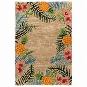 tropical neutral indoor outdoor rug 8 x 10