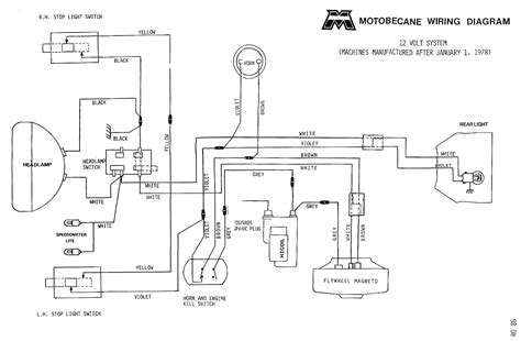 Moped Ignition Switch Wiring Diagram by Motobecane Wiring Diagrams Moped Wiki