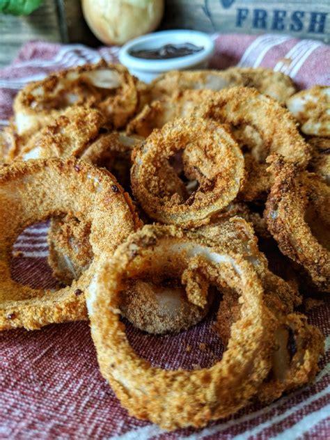 onion rings air fryer gluten dairy fried crispy milk ingredients battered