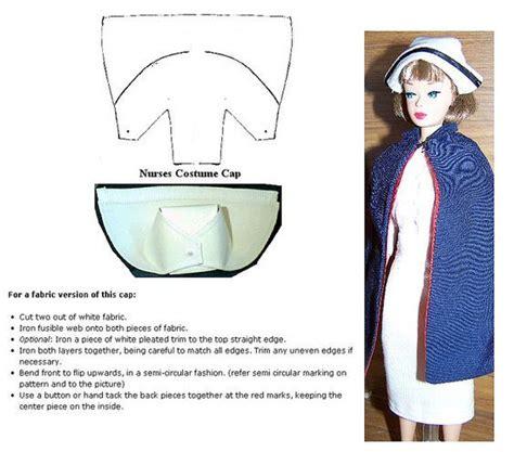 barbie nurse cap instructions barbie clothes patterns