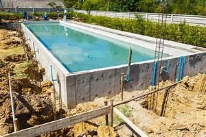 construire une piscine beton traditionnelle en kit With realiser une piscine en beton
