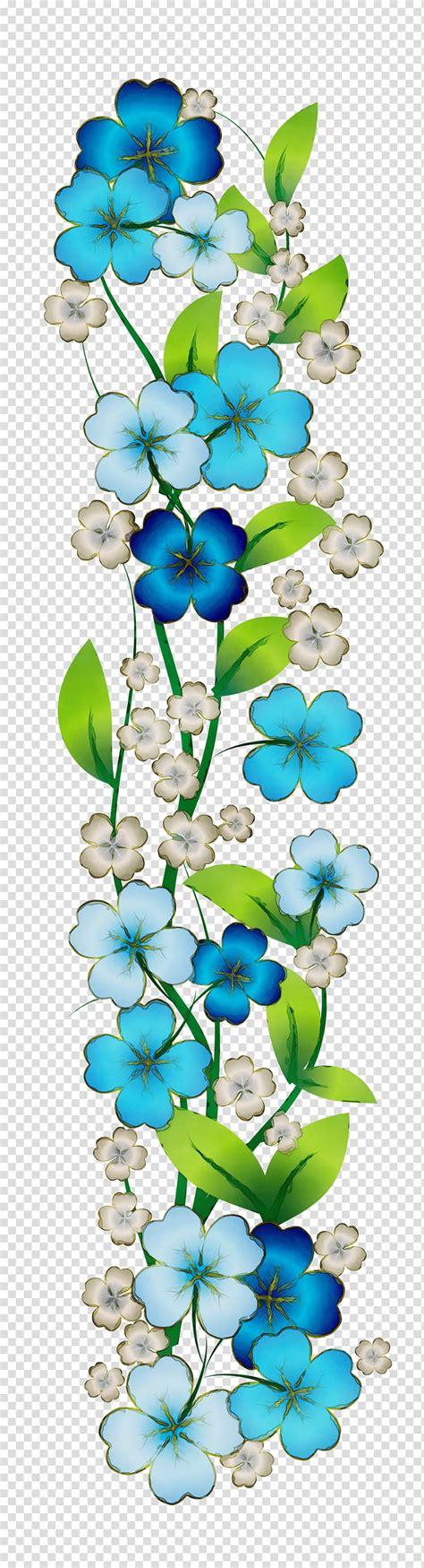 blue flower borders  frames blue rose floral design