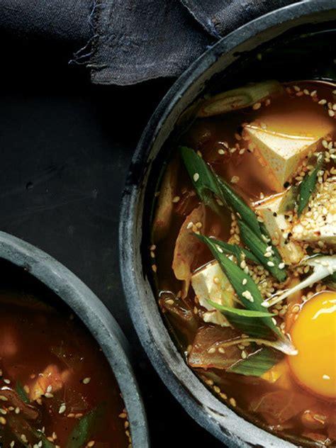 spicy kimchi tofu stew recipe asian tofu soup food