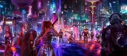 Cyberpunk 4k Shadow Wallpapers Artstation Artist Backgrounds