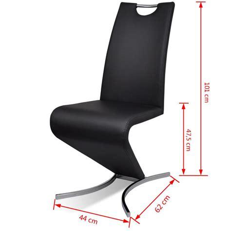 chaise simili cuir noir la boutique en ligne chaise en simili cuir cantilever avec