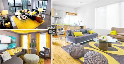 Déco jaune et gris dans le salon! 25 idées créatives