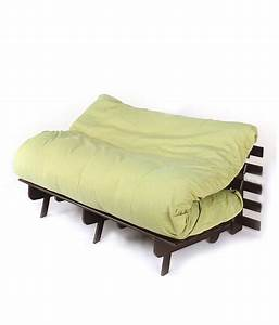 Double futon sofa cum bed with green mattress buy double for Let out sofa bed