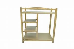 Panier Table A Langer : commode table langer b b en bois avec panier ~ Teatrodelosmanantiales.com Idées de Décoration