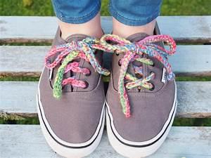 Ergahandmade  How To Crochet Rainbow Shoe Laces   Free Pattern