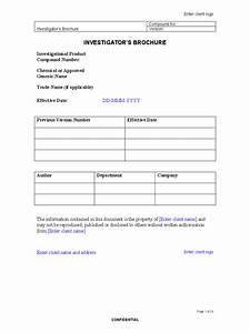 investigator brochure template 3 free templates in pdf With investigator brochure template