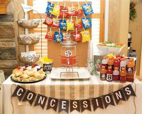 football birthday concession stand decoration sports