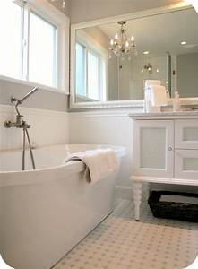 My, House, Of, Giggles, White, And, Grey, Bathroom, Renovation, Makeover, Carrera, Marble, Hex, Tile, Etc
