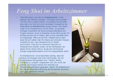feng shui in der wohnung 4780 feng shui in der wohnung arbeitsblatt free esl projectable worksheets made by teachers