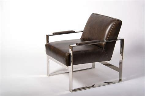 fauteuil en cuir chrome weston fauteuil cuir