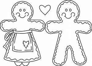Free coloring pages of gingerbread outline