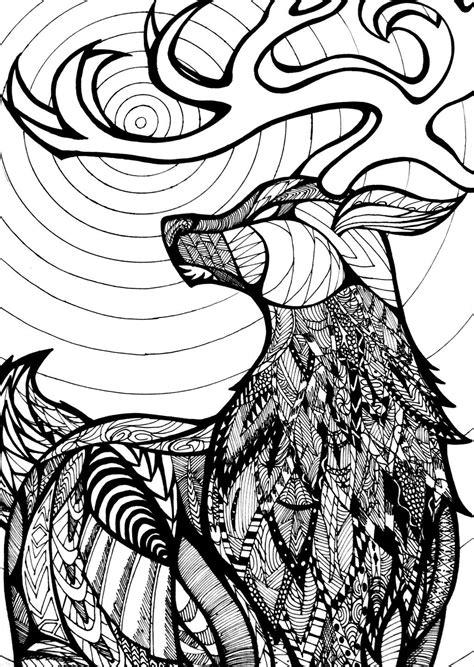 zentangle stag  valexg  deviantart art doesnt