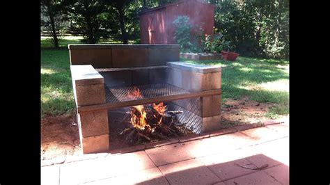 build   backyard concrete block grill easy youtube