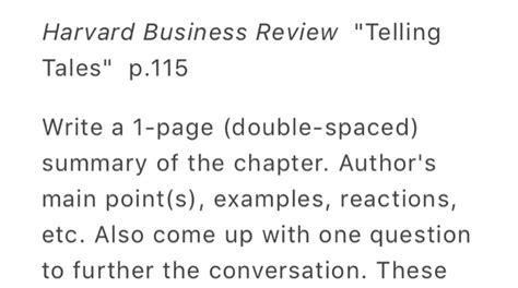 solved harvard business review quot telling tales quot p 115 writ