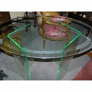 Dessus De Table En Verre : table ovale dessus en verre et sur moinat sa antiquit s ~ Dailycaller-alerts.com Idées de Décoration