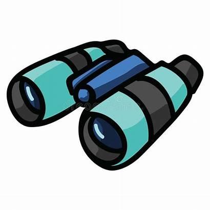 Clipart Cartoon Binoculars Travel Isolated Kawaii Icon